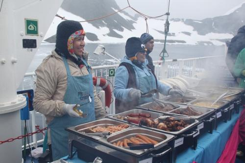 Antarctica - Barbecue on deck