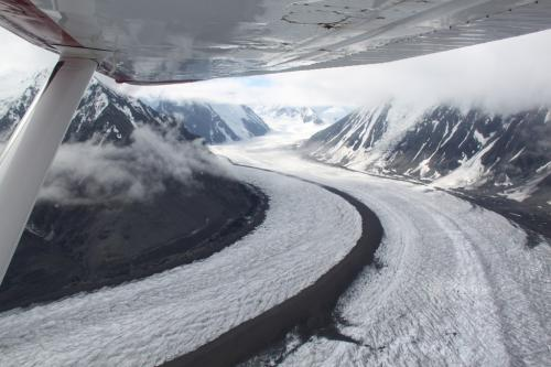 Arctic - glacier Denali from plane