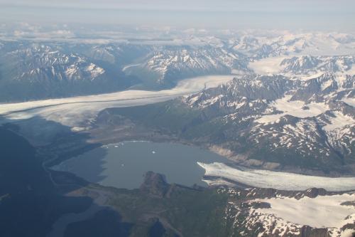 Arctic - plane view lake