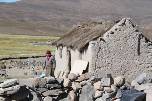 Atacama - Vrouw en huis