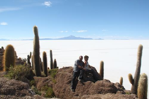 Bolivia - Cactussen Salar flat