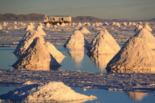 Bolivia - Salt piles 1