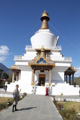 Buthan - Memorial stupa monument Thimpu