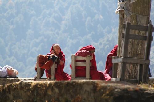 Buthan - Tibetan monks