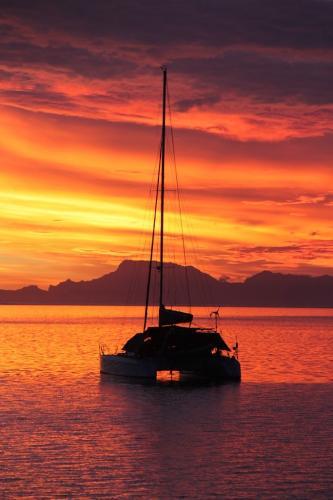 Frans Polynesie - zonsondergang