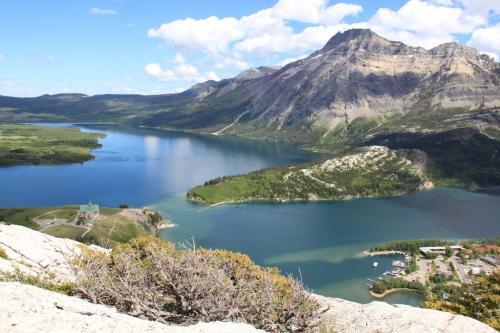 Glacier NP - overzicht waterton