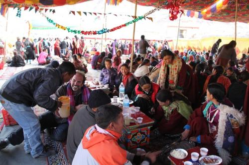 Ladakh - Feesten met familie Chemrey Gompa