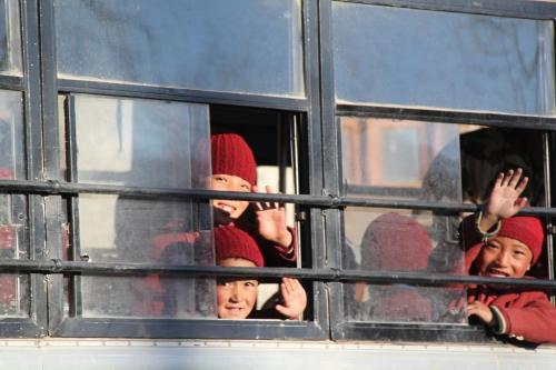 Ladakh - Schoolbus Kinderen