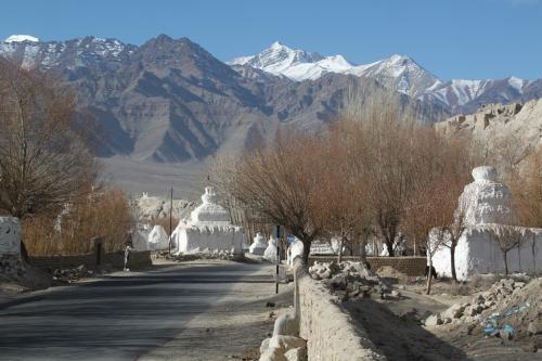 Ladakh - Vergezicht met Stupas Shey