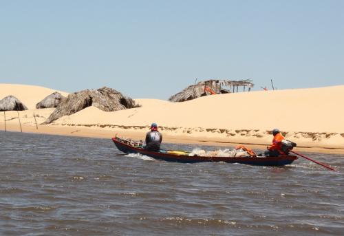 Lencois - Visserboot  & dunes
