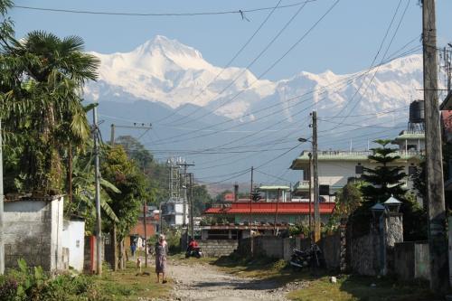 Nepal - Annapurna mountain range Pokhara