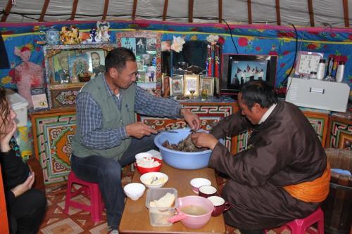 Nomaden - ingewanden eten