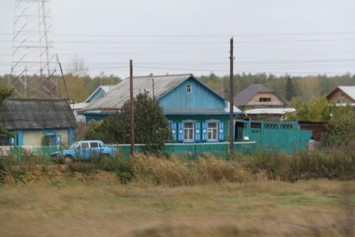 Trans Siberian - huis langs de rails