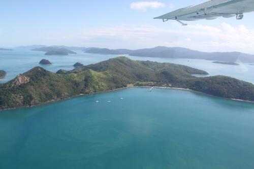 Whitsundays - flight view
