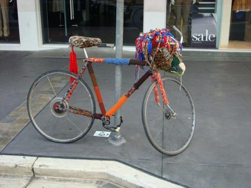 Adelaide - gekleurde fiets