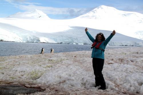 Antarctica - Shouting Dede met pinguins
