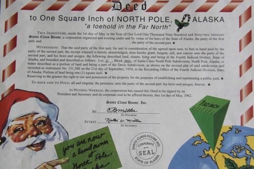 Arctic - santa claus certificat