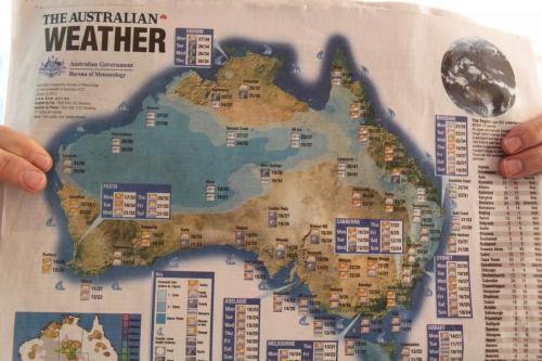 Ayers Rock - weerkaart