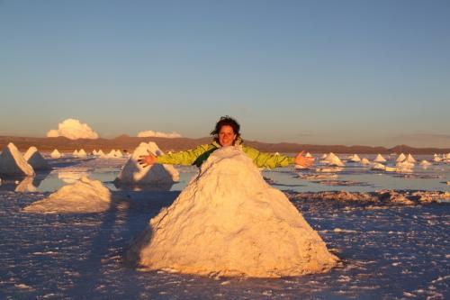 Bolivia -  Salt flat Pile