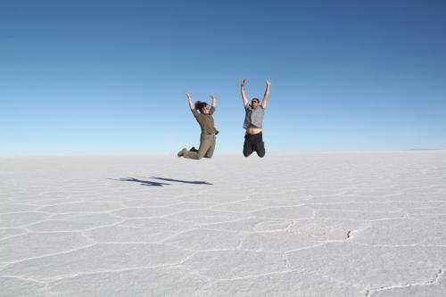 Bolivia -  Salt flat jump