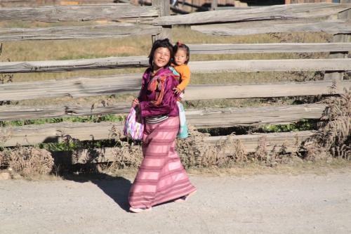 Buthan - Moeder en kind
