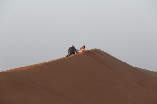 Dubai desert Happy new Year
