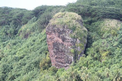 Frans Polynesie - head rock