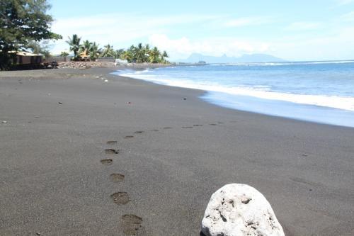 Frans Polynesie - zwart strand