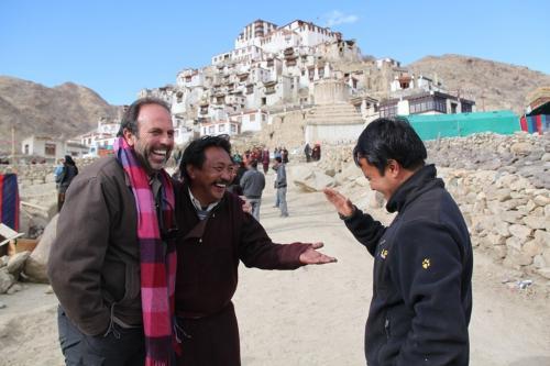 Ladakh - Mannen en feesten Chemrey gompa