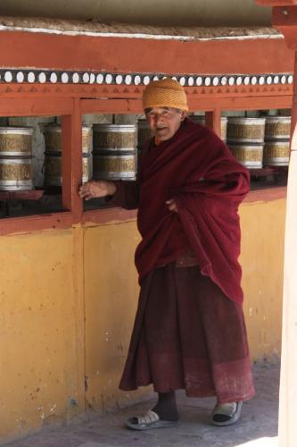 Ladakh - Monnik gebedsmolen