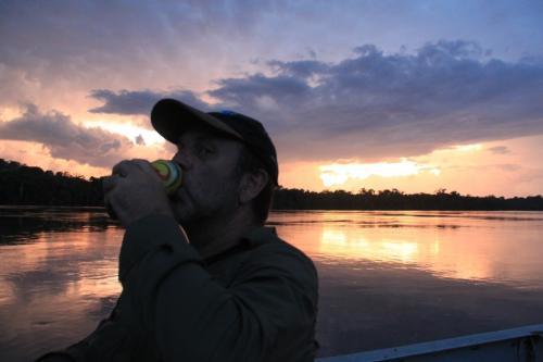 Mato Grosso - Zonsondergang met biertje