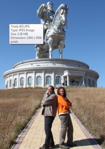 Mongolia - Chinggis Khaan met Dede Erwin