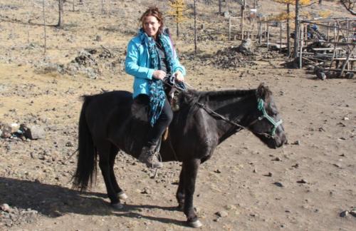 Mongolia - Dede te paard