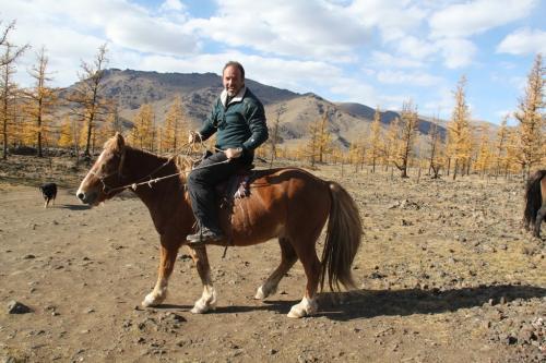 Mongolia - Erwin te paard