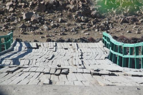 Mongolia - Houten brug