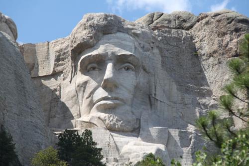 Mt Rushmore - Pres Lincoln onvoltooid