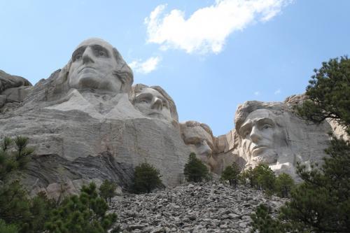 Mt Rushmore - koppen van onder