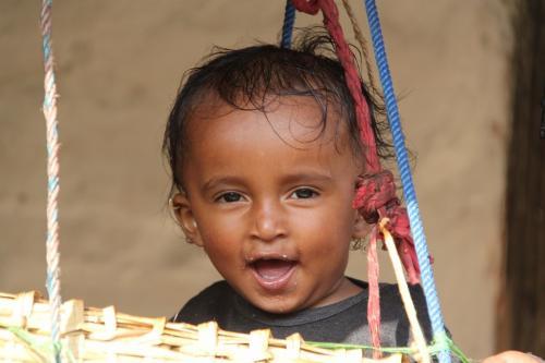 Nepal - lachende jongen