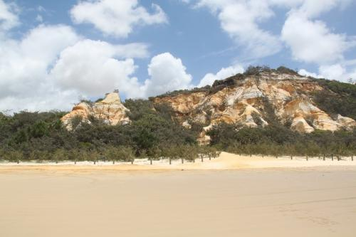 QLD - Fraser Pinaccles rocks