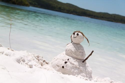 QLD - Fraser sneeuwman Lake McKenzie