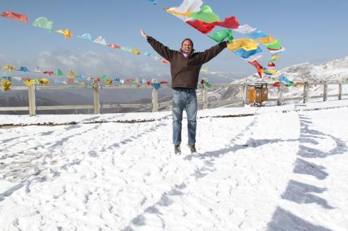 Tibet - Kleurrijke vlaggen