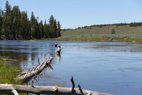 Yellowstone - flying fishing men